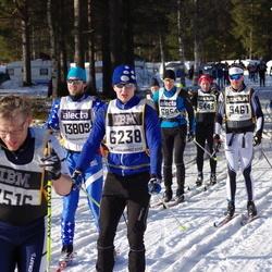 Skiing 90 km - Bjarne Emilsson (6238), Svante Parsjö Tegnér (7516), Henrik Nilsson (9461), Carl Hultgren (13809)
