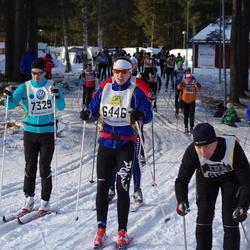 Skiing 90 km - Joakim Theorén (6446), Daniel Damm (7329)