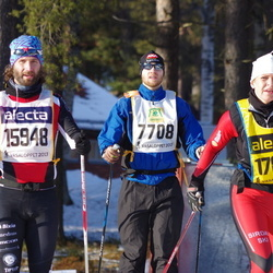 Skiing 90 km - Anders Adler (7708), Robert Forsgren (15948), Turid-Anne Drageset (17880)