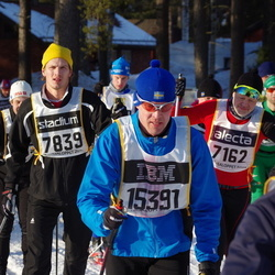 Skiing 90 km - Niklas Cederberg (7162), Andreas Gormsen (7839), Björn Fredriksson (15391)