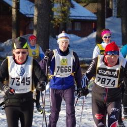 Skiing 90 km - Peter Tour (7666), Eberhard Christ (7874)