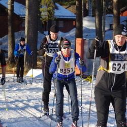 Skiing 90 km - Lars Höglund (6241), David Linde (7308), Johan Robertsson (9720)
