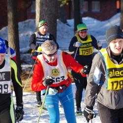 Skiing 90 km - Jan-Erik Backlund (7499), Cecilia Karlsson (17814), Anja Pärson (17911)
