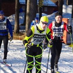 Skiing 90 km - Ola Petersson (6351), Fredrik Lundkvist (7982), Christer Martinsson (12939)