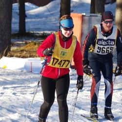 Skiing 90 km - Andreas Andersson (9669), Catrin Kuus (17477)