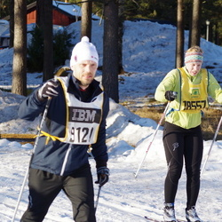 Skiing 90 km - Henrik Nord (9120), Julia Forsberg (18557)
