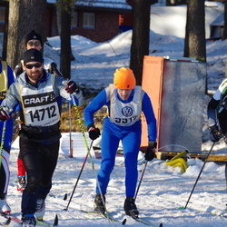 Skiing 90 km - Dan Hägglund (9915), Carl-Gustaf Österberg (14712), Helena Rosengren (17185)