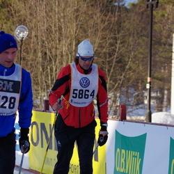 Skiing 90 km - Alexander Walpen (5864), Niklas Berglin (7528)