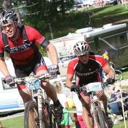 Cycling 90 km - Daniel Broqvist (1213), Carl Elwing (1311)