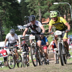 Cycling 90 km - Markus Bromander (4361), Anton Trotzig (4432)
