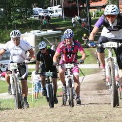Cycling 90 km - Henrik Lundh (4702), Joachim Svärdh (5471), Ulrik Forslund (6677), Åsa Bengtsson Sjörs (6936)