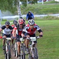 Cycling 90 km - Anders Englund (2234), Thomas Karlsson (2483), Tommi Ratilainen (2825)