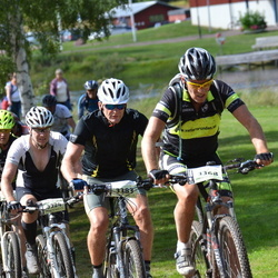 Cycling 90 km - Lars-Johan Hertz (3324), Boije Fridell (3368), Thomas Dahlin (3383)