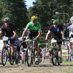 Cycling 90 km - Jens Agebrink (8096), Björn Bok (8845), Johan Nilsson (9108), Marcus Hedin (11412)
