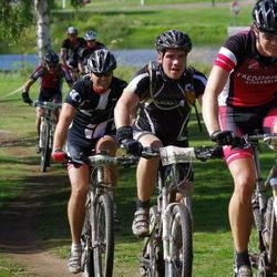 Cycling 90 km - Karl-Johan Wirfalk (2654), Dennis Berglund (3309)