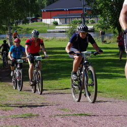 Cycling 90 km - Anna Hahne (5063), Daniel Nordin (5496), Gustav Larsson (6263)