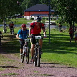 Cycling 90 km - Daniel Nordin (5496), Gustav Larsson (6263)