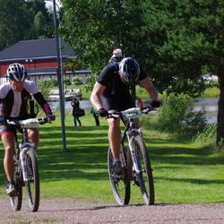 Cycling 90 km - Anders Grände (5563), Markus Bäckström (7178)