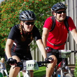Cycling 90 km - Jonas Frostvik (11290), Åsa Magnusson (11387)