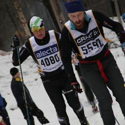 Skiing 90 km - Anders Jorholm (4080), Fredrik Svensson (5592)