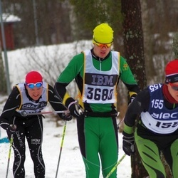 Skiing 90 km - Vegard Øie (155), Dennis Lindberg (3680)