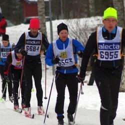 Skiing 90 km - John Krispinsson (6553), Christian Bergqvist (6684), Tomas Persson (6955)