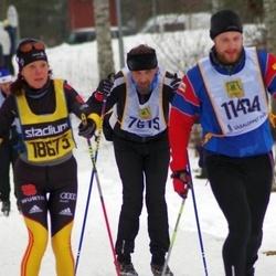 Skiing 90 km - Ari Lauttamus (7615), Niklas Jakobsson (11424), Heidi Wolfram (18673)