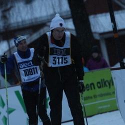 Skiing 90 km - Johan Hidman (3115), Anders Bengtsson (10811)