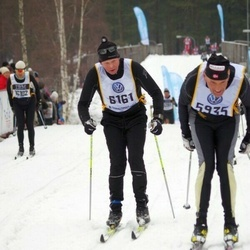 Skiing 90 km - Kjell Svihus (5935), Åke Lindkvist (6161)