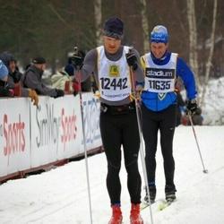 Skiing 90 km - Lars Nordvall (11635), Daniel Salomonsson (12442)