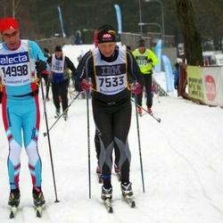 Skiing 90 km - Tomas Borlid (7533), Jean Leyder (14998)