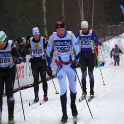 Skiing 90 km - Patrik Sylvan (5225), Johan Rundberg (8207), Arne Eik (12862)