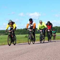Vätternrundan - Dennis Haberl (9044), Steffen Porthun (9045), Mathias Storm (9652), Simon Åström (9653)