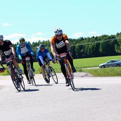 Vätternrundan - Henrik Roos (24550), Peter Wrangel (24596), Johan Höjman (25479)