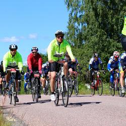 Vätternrundan - Anders Johansson (6418), David Fransson (6419), Veronica Strömquist (7256)