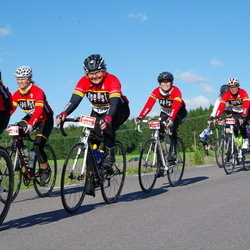 Vätternrundan - Ann-Christin Eriksen (3204), Anne-Mari Johansen (3330), Nina Hoffstrøm (5576), Inger-Lise Ramstad (5579), Charlotte Haugene (5582)
