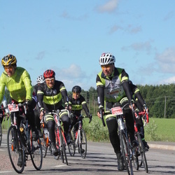 Vätternrundan - Eva Olofsson (7247), Peter Strömblad (7250), Johan Lilja (7258), Anders Gustafsson (10665)