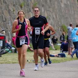 Maleryd Varberg Triathlon - Erik Augustsson (213), Cecilia Hjälmroth (256), Marcus Olsson (304)