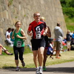 Maleryd Varberg Triathlon - Alexander Warolin (344), Emma Wermström (346)